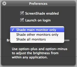 ScreenShade Mac OS X
